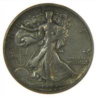 UNITED STATES USA 1/2  HALF DOLLAR WALKING LIBERTY 1944 S AG SILVER - Emissioni Federali