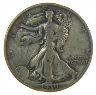 UNITED STATES USA 1/2  HALF DOLLAR WALKING LIBERTY 1939 S AG SILVER - Emissioni Federali