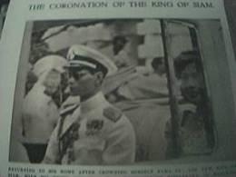 Book Picture Original 1950 King Of Siam Coronation And Bride 3 Pictures Sirikit Kitiyakara - Livres Anciens