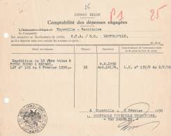 798/20 - Document  CONGO Belge THYSVILLE 1950 - Cachet Administratif  Territoire Des CATARACTES - Congo Belge