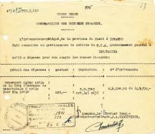 799/20 - Document  CONGO Belge LUSAMBO 1950 - Cachet Administratif  Province De Lusambo - Congo Belge