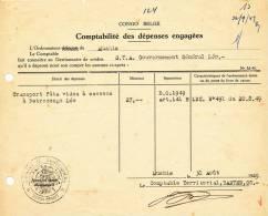800/20 - Document  CONGO Belge MUSHIE 1949 - Cachet Administratif  Territoire De MMUSHIE - Congo Belge