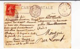 """MARITIME - 1910 - CARTE Par PAQUEBOT Des MESSAGERIES MARITIMES """"MAGELLAN"""" Du SENEGAL - LIGNE BORDEAUX-BUENOS AIRES - Marcophilie (Lettres)"""