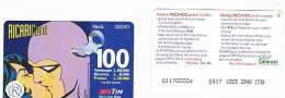 TIM ITALIA - RICARICAT (10^ ED.) 1006 Bis - UOMO MASCHERATO  (3) SC.DIC.99 (OCR 20, STRISCIA IN BASSO ) - USATA RIF.CP - Italia