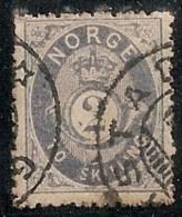NORUEGA 1871/75 - Yvert #17 - VFU - Noruega