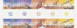 Australia 2001 Outback Services Gutter Strip - Sheets, Plate Blocks &  Multiples