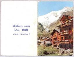 Petit Calendrier - 1964 - Meilleurs Voeux - Chaine Du Mont Blanc - Calendriers