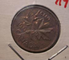 Münze Coin Canada Ahornblatt 1 Cent 1962 - Canada