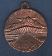 MEDAILLE TUNNEL DU Mt BLANC CHAMONIX 16-7-65 / TUNNEL DU Mt BLANC COURMAYEUR 16-7-65 - Sonstige