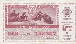 RUSSIA  -- 2 X  LOTTERIE - Lotterielose