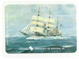 BArco/ Ship - Lusitania Companhia De Seguros SA - Portuguese Pocket Calender 2002 - Calendarios