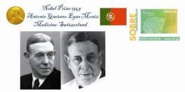 Spain 2013 - Nobel Prize 1949 Medicine - Antonio Caetano Egas Moniz/Portugal Special Prepaid Cover - Prix Nobel