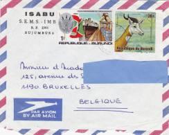 Z2] Lettre Burundi Independance Gazelle - Burundi