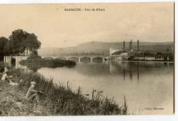 CPA (Réf : Q 925) MARBACHE (54 MEURTHE-et-MOSELLE) Pont De Millery (animée, Pêcheur à La Ligne) - Sonstige Gemeinden