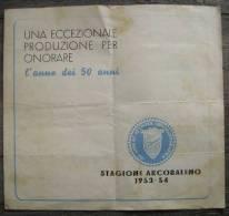 TITANUS 1953-54 50 ANNI DI ATTIVITA' CINEMATOGRAFICA PIEGHEVOLE PUBBLICITARIO - Pubblicitari