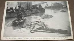 Paris Inondé Janvier 1910 - Epaves De Bateaux Emportes Par La Crue - Inondations De 1910