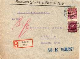 ALLEMAGNE LETTRE RECOMMANDEE INFLATION BERLIN 1923 - Covers