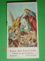 Calendarietto Anno1961 - Madonna Del CONFORTO Casa Del Fanciullo - Orfanelli  APRICENA,Foggia - Calendriers