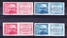 R O M A N I A     1949 , Transports, Y&T  # 1085/6 + Imperf , Cv  6,00  E, ** M N H , V V F - Nuovi