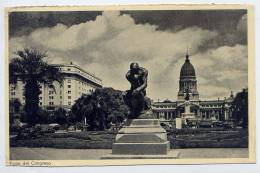 "Argentine--BUENOS-AIRES-- Plaza Del Congreso--timbre Uruguay-griffe Horizontale Ou Linéaire ""St SAVINIEN""-17----France - Argentine"