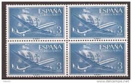 ES1175-LA317TV.Spain Espagne SUPER-CONSTELLATION Y NAO SANTA MARIA 1955/56.(Ed.1175**)sin Charnela LUJO  BLOQUE DE 4 - Variedades & Curiosidades