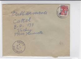 MARTINIQUE - 1960 - ENVELOPPE Par AVION De DUCOS Pour VICHY - Postmark Collection (Covers)