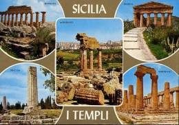 Cartolina SICILIA, I TEMPLI Anni '60 - OTTIMA E92 - Italia
