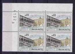 Monaco, 1960 Maury  549 MNH/** Numbered Corner Bloc - Monaco