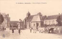 CPA 18  GENOUILLY ,Place De L'église Et Presbytère..  Animée.... - Autres Communes