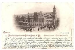 AK Frankfurt - Sachsenhausen - Deutschherrenhaus    Gelaufen 1896 - Frankfurt A. Main