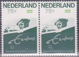 Nederland 1988 Postfris MNH Erasmus Universiteit Plaatfout 1412 PM - Plaatfouten En Curiosa