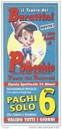 """Biglietto Ingresso """" IL TEATRO DEI BURATTINI """"  Anno 2013 - Tickets D'entrée"""