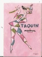 CARTE PARFUMEE ANCIENNE TAQUIN  DE FORVIL - Vintage (until 1960)