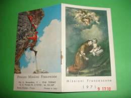 Calendarietto Anno 1971 - ALPINISMO Montagna - S.ANTONIO Da Padova - Missioni Francescane - Buona Stampa - TORINO - Calendari