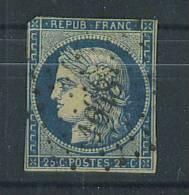 VEND TIMBRE DE FRANCE N° 4b , BLEU SUR JAUNE + PC 1648 : LAON !!!! - 1849-1850 Ceres