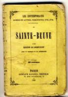 SAINTE-BEUVE - Les Contemporains Par Eugéne De Mirecourt -  Broché.   Ed Gustave Havard. - Biographie