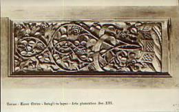 Torino - Cartolina Antica INTAGLI IN LEGNO (arte Piemontese Sec. XVI), Museo Civico - OTTIMA F1 - Sculture
