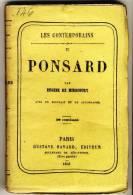 PONSARD   - Les Contemporains Par Eugéne De Mirecourt -  Broché.   Ed Gustave Havard. - Biographie