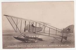 + CPA AEROPLANE CAUDRON TYPE G-3, G3, HYDRO MIXTE TERRESTRE ET MARITIME, AVION, AVIATION + - 1914-1918: 1st War