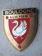 ANCIENNE PLAQUE DE SCOOTER EMAILLEE ANNEE 1950 BOULOGNE SUR MER EXCELLENT ETAT AUCUNS ECLATS DRAGO PARIS