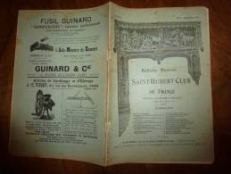 N° 9  Du Mois De Septembre 1905  ( CHASSE)   Saint-Hubert-Club ; Pub Petit Matelot;   Revue Du Chasseur - Livres, BD, Revues