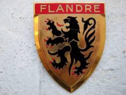 ANCIENNE PLAQUE DE SCOOTER EMAILLEE ANNEE 1950 FLANDRE EXCELLENT ETAT AUCUNS ECLATS DRAGO PARIS