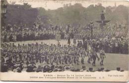 Paris - Revue Du 14 Juillet 1918 - Défilé Des Troupes Serbes Place De La Concorde - Régiments
