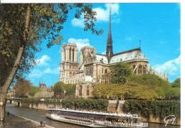 PARIS - La Seine Et La Cathédrale Notre-Dame - Notre Dame De Paris