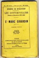 St MARC GIRARDIN  - Les Contemporains D´Eugène De Mirecourt. Broché. Ed Librairie Des Contemporains. - Biographie