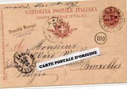 1897 - IMOLA (ITALIE) - CARTE POSTALE SANS ILLUSTRATION - DOMENICO RACCAGNI - CARTOLAJO E LIBRAJO - Imola