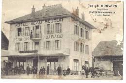 HAUTE SAVOIE 74.SAINT ST PIERRE DE RUMILLY HOTEL BEAU SEJOUR PENSION GARAGE JOSEPH BOUVARD PROPRIETAIRE - Autres Communes