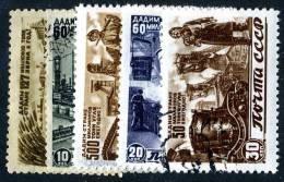 (e1088)  Russia 1946   Sc.1075-79  Used   Mi.1066-70 - Used Stamps