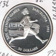 COOK Islas - 50 Dolar 1990 PROOF  KM112  PLATA - Regional Coins