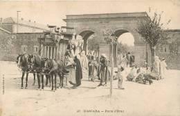 MASCARA PORTE D'ORAN AVEC ATTELAGE DILIGENCE - Andere Steden